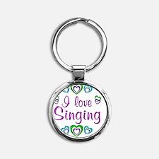 singing Round Keychain