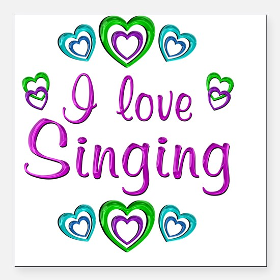"singing Square Car Magnet 3"" x 3"""