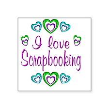 "scrapbooking Square Sticker 3"" x 3"""