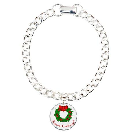 Seasons Greetings Holly Charm Bracelet, One Charm