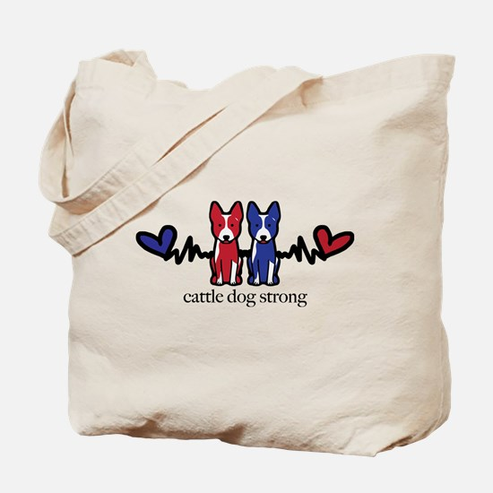 cattle dog strong Tote Bag