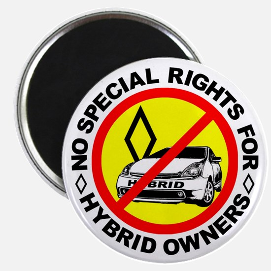 """No Special Rights For Hybrids! 2.25"""" Magnet (10 pa"""