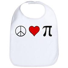 Peace, Love, and Pi Bib