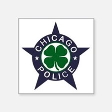 "Chicago Police Irish Square Sticker 3"" x 3"""