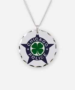 Chicago Police Irish Necklace Circle Charm