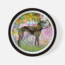 R-Garden-Greyhound-brindle Wall Clock
