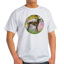 R-Garden-Greyhound-brindle T-Shirt