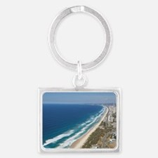 And Broadwater Marina - aeriala Landscape Keychain