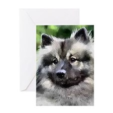 keeshond calendar Greeting Card