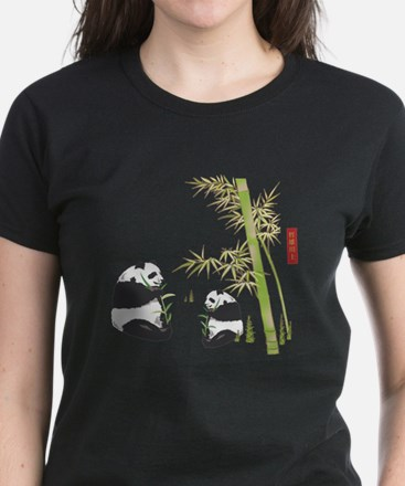 Panda Bamboo Women's Dark T-Shirt