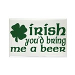 Irish Bring Me a Beer Rectangle Magnet