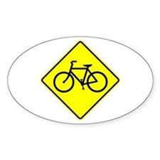 Bike Sign Share the Road Oval Decal