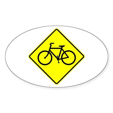 Bike Sign Share the Road Oval Sticker