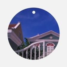 Curacao Colorful buildings and deta Round Ornament