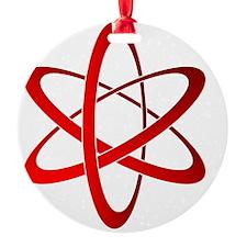 atom Round Ornament