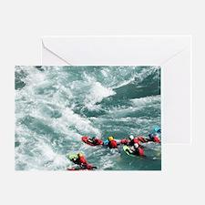 Kawarau Gorge at Roaring Meg Greeting Card