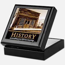 History demotivational poster Keepsake Box