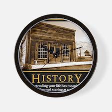 History demotivational poster Wall Clock