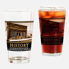 History demotivational poster Drinking Glass