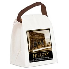 History demotivational poster Canvas Lunch Bag