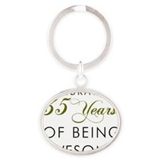35 Years Pint Glass Oval Keychain