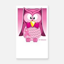BC-Pink-Owl-blk Rectangle Car Magnet