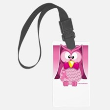 BC-Pink-Owl-blk Luggage Tag