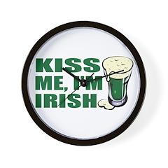 Kiss Me, I'm Irish St. Pats Wall Clock