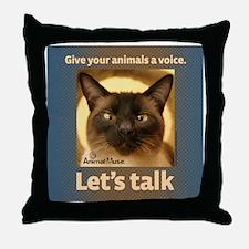 Elvis Lets Talk Throw Pillow