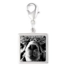 11x11 say cheese Silver Square Charm