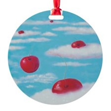 fFalling Cherries thru Clouds Ornament