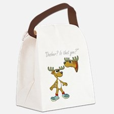 Santa Reindeer Canvas Lunch Bag