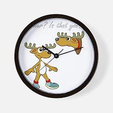 Santa Reindeer Wall Clock