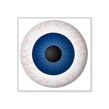 "Blue Eye Square Sticker 3"" x 3"""