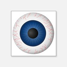 "Blue Eye Square Sticker 3"" x 3"""
