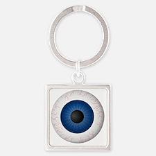 Blue Eye Square Keychain