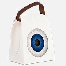 Blue Eye Canvas Lunch Bag