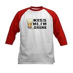 Kiss Me, I'm Drunk (Beer) Kids Baseball Jersey