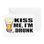 Kiss Me, I'm Drunk (Beer) Greeting Cards (Package