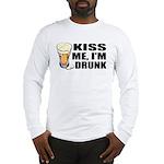 Kiss Me, I'm Drunk (Beer) Long Sleeve T-Shirt