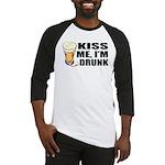 Kiss Me, I'm Drunk (Beer) Baseball Jersey