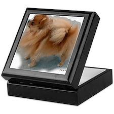 Pomeranian watercolor final Keepsake Box