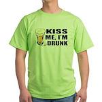 Kiss Me, I'm Drunk (Beer) Green T-Shirt