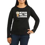 Kiss Me, I'm Drunk (Beer) Women's Long Sleeve Dark