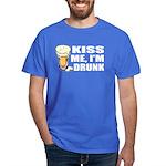 Kiss Me, I'm Drunk (Beer) Dark T-Shirt