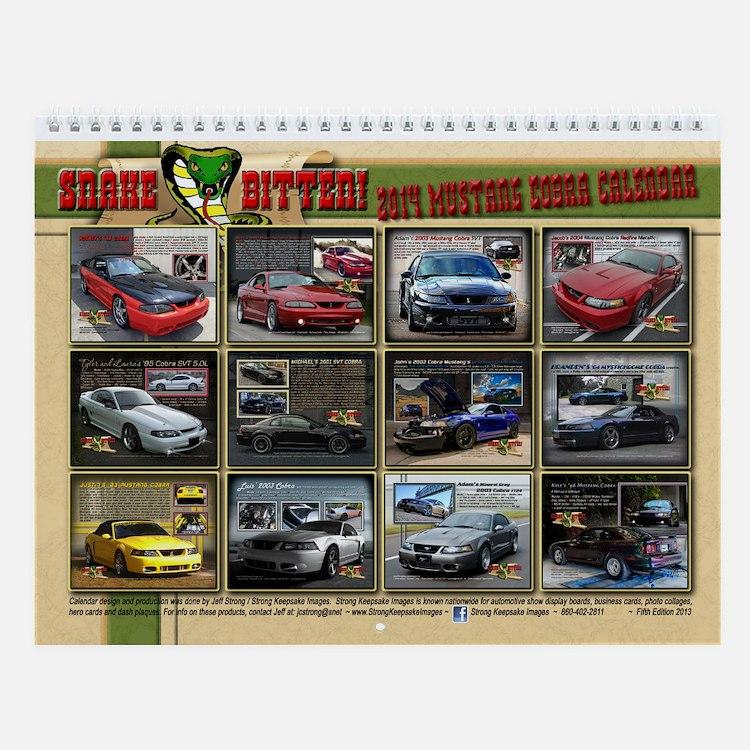 2014 Snake Bitten Mustang Calendar