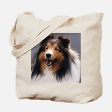 sheltie art canvas square Tote Bag