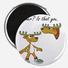 Santa Reindeer Magnet