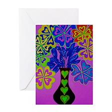 Blooming Purple 9x12 Greeting Card