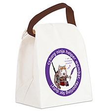 cyborg_ninja_wombat_logo3 Canvas Lunch Bag